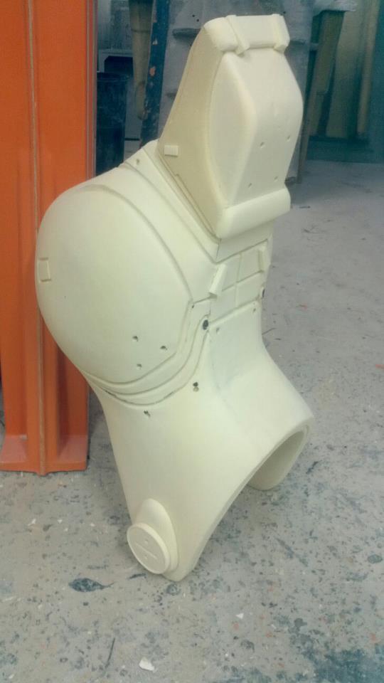shin mold plug carved by hand