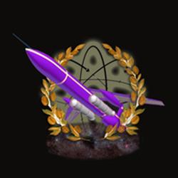 Purple Dart with Coal-sack Nebula Cluster