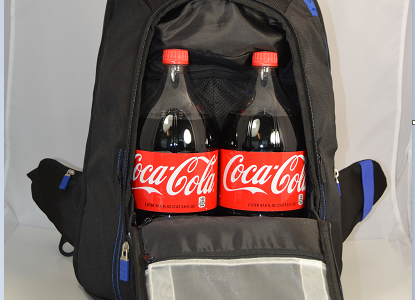 Example of Storage Space - Large Main Storage Compartment with 2 x Large 2 Liter Coke Bottles