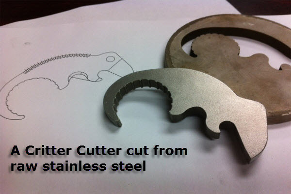 Solid Stainless Steel Critter Cutter