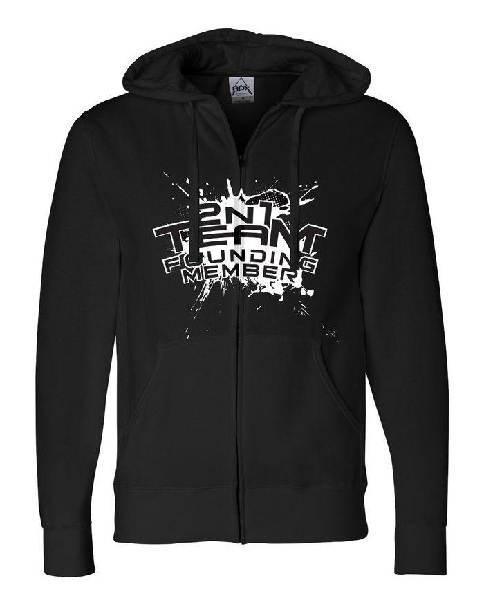 2N1Team Founding Member Hoodie mockup.  Design by Jay Williams