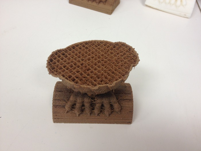 This is an example of honeycombing the inside using wood filament