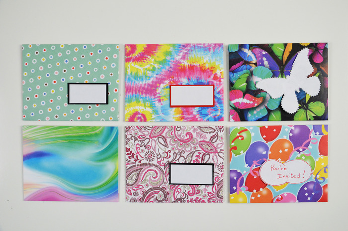 Envelopes made from scrapbook paper