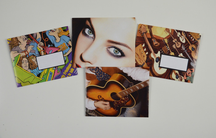 Envelopes made from magazine pages
