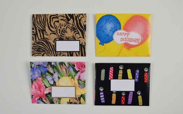 Envelopes made with wrapping paper