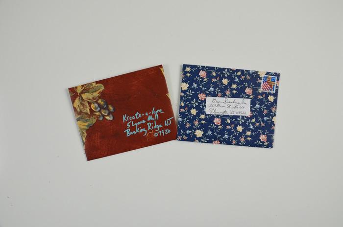 Envelopes made using wallpaper