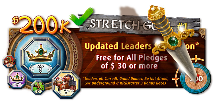 Stretch Goal # 1 confirmed - Leaders is coming back into print!