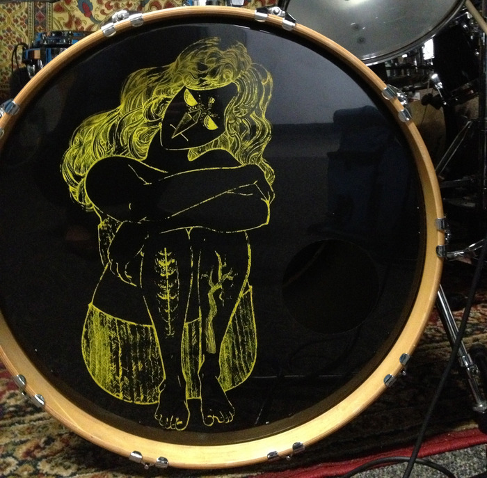 Owl Lady Drumhead (art by Trillian Spencer)