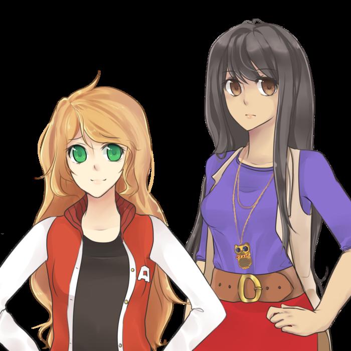 A sample of Taryn and Yuko's sprite art.