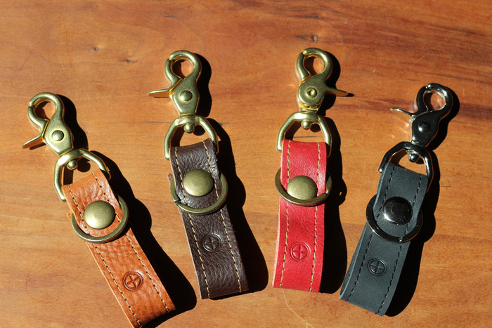 Lanyards in order of color: Hemlock, Stout, Apple and Coal