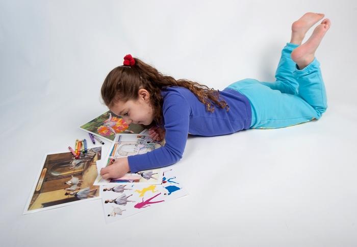 Our girl enjoying one of Degas' activities.
