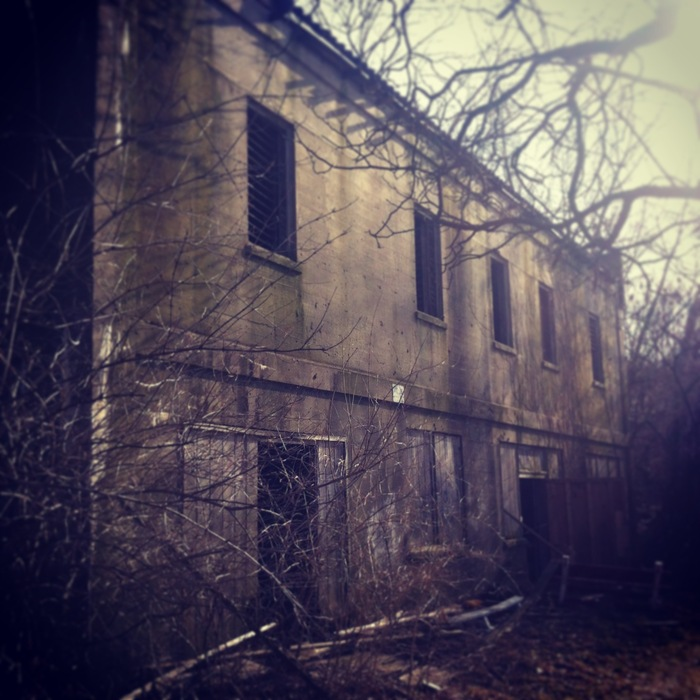 Location # 1.  A broken down church in the woods.