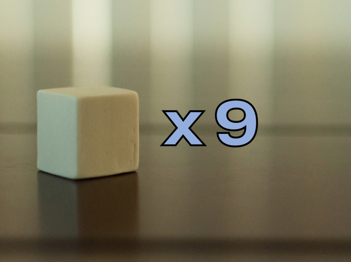 """Small Cubes - 7/8"""" x 7/8"""" x 7/8"""""""