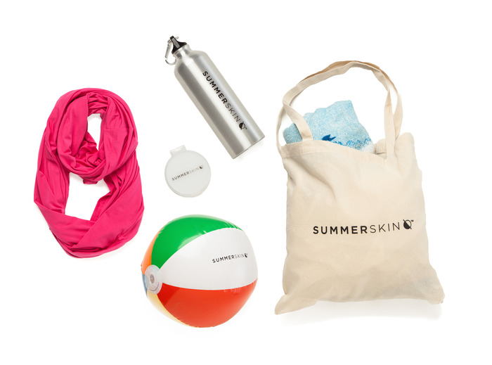 The SUMMERSKIN Beach Kit + an Endless Summer Scarf™ in the color of your choice.