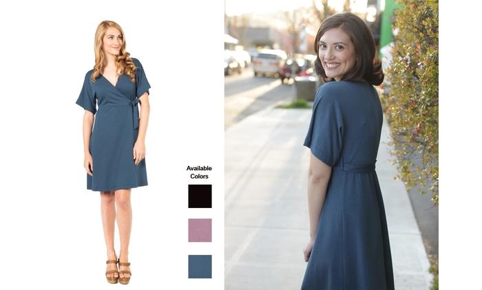 The fun and flirty SUMMERSKIN Wrap Dress. UPF50+.