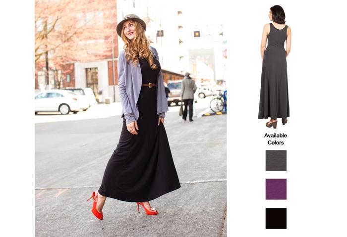 The SUMMERSKIN Maxi Dress. An updated classic. UPF 50+.