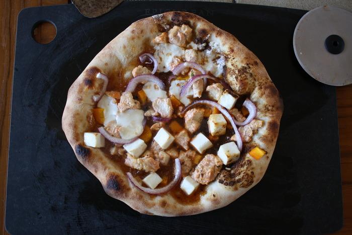 Tandoori Chicken Pie (tested with Mango Chutney base, Tandoori Paste base, Mozzarella or Paneer as a cheese)