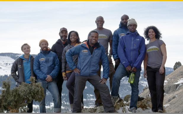 Expedition Denali Team Members (From L to R): Rosemary Saal, Scott Briscoe, Ryan Mitchell, Erica Wynn, Stephen DeBerry, Stephen Shobe, Billy Long, Tyrhee Moore, Adina Scott