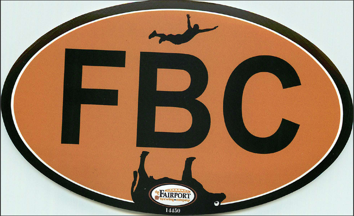 First edition FBC sticker with Scum Jumper headed directly into the carcass of the Erie Canal Cow!  Not something you see everyday is it?
