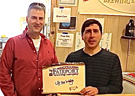 Tim and Paul at the Fairport Brewing Company