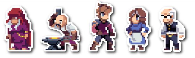 """Main Cast Sticker Set (~4"""" tall)"""
