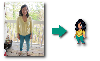 Animated Chasm-style Pixel Character Based Off Photo ($500)