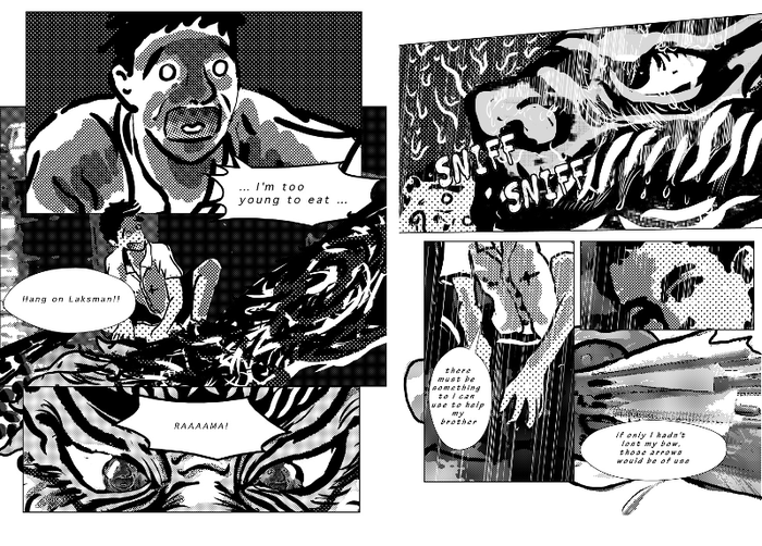page sample from Ramayana:The Thread Of Luminance