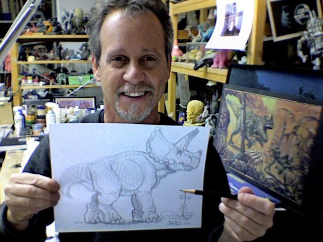 Charlie Chiodo will draw you a dinosaur!