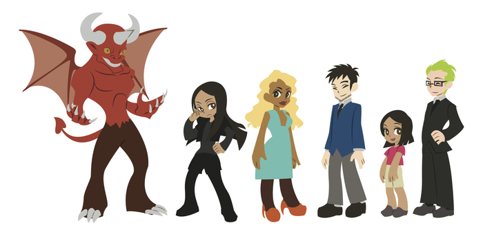 Layout of the characters that will appear in the 1st 3 episodes of Milan