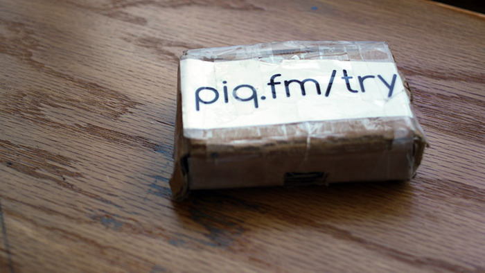 Our first sale, housed in the very same cardboard that Amazon shipped a Raspberry PI in.