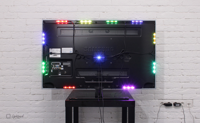 Lightpack on a 42'' TV