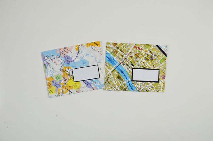 Envelopes made using maps
