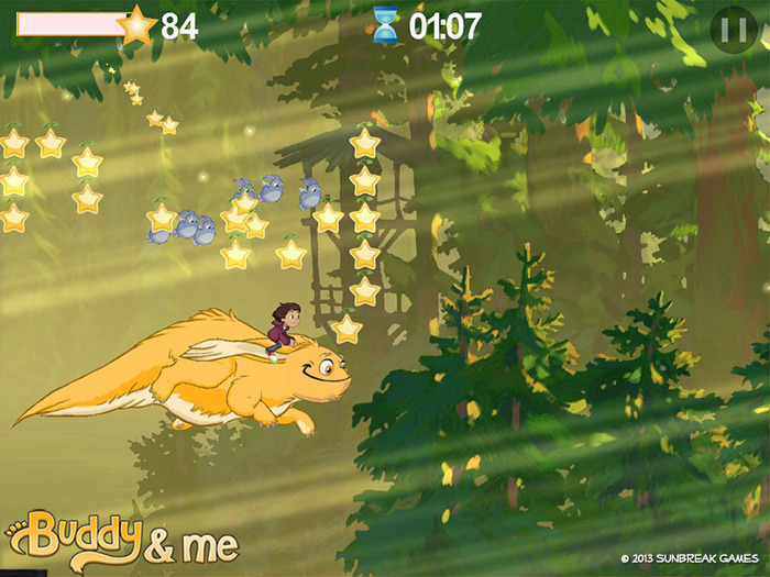 Buddy Flight: Collect enough star seeds, and hop aboard!