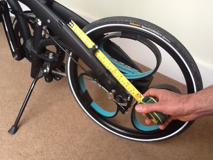 Checking for at least 260mm clearance - rear wheel