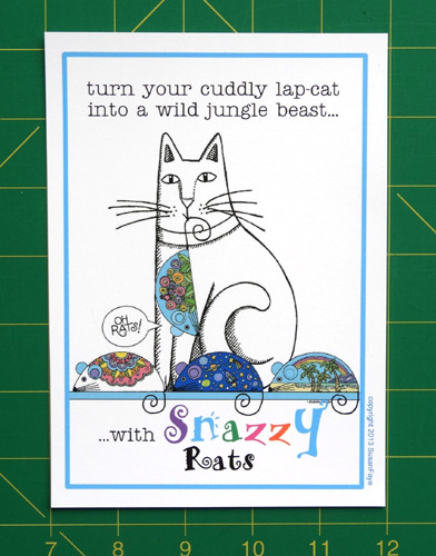 Every backer will Snazzy Rat Bonus Mini Print in addition to your selected reward package