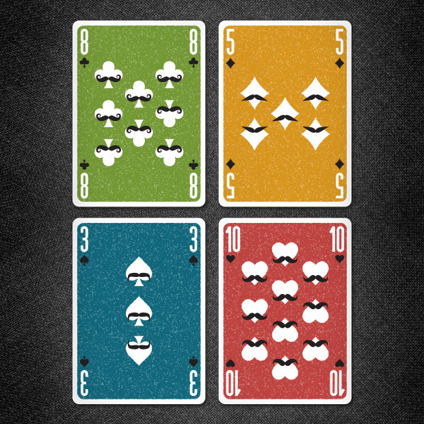 Examples of the number (spot) cards