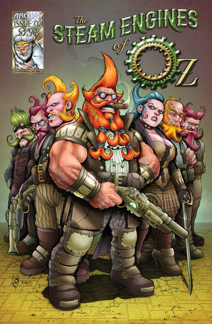 The Steam Engines of Oz Issue 2 Cover