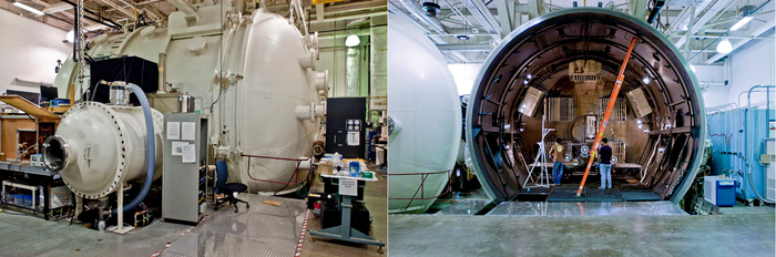 The Large Vacuum Test Facility (LVTF) located at the University of Michigan in Ann Arbor.
