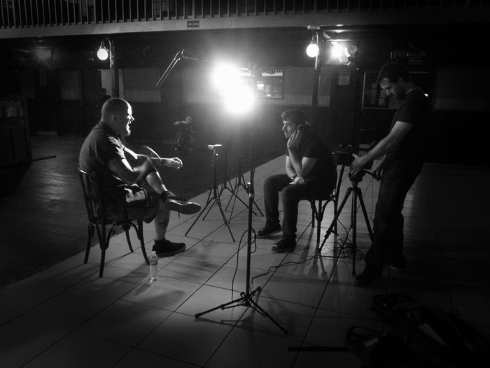 Director Otavio Juliano interviews legendary Phil Anselmo for the documentary.