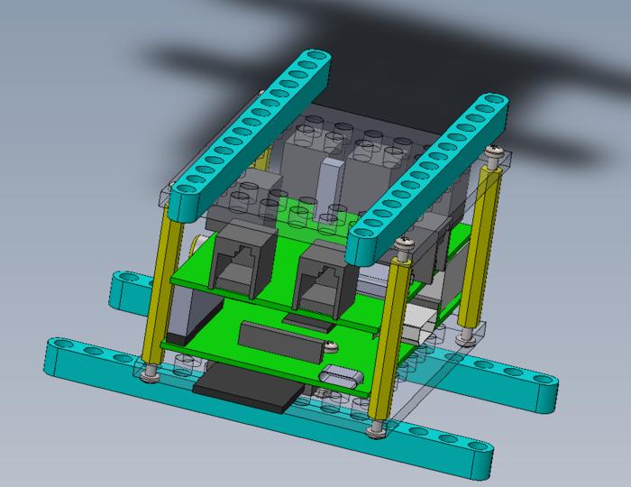 BrickPi Case Design Rendered in CAD