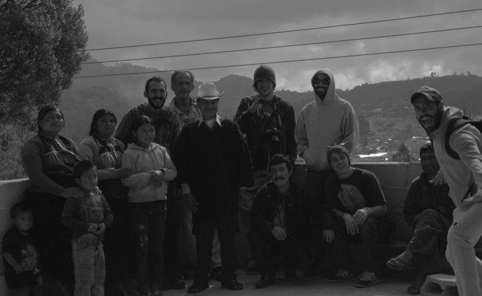 The Crew with Don Juan Gallo in San Juan Chamula, Chiapas, Mexico.
