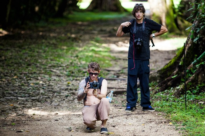 Cinematographers Chris Frank and Donald Brownlow.