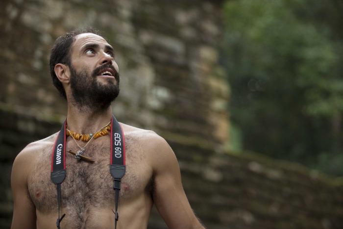 Director Rodrigo Goribar in Tikal, Guatemala.