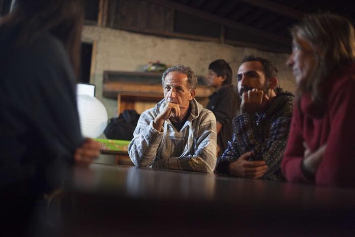 Producers Martin Frank and Rodrigo Courtney in Silvine´s and Don Marzo Yuk Quetzal Eco-Village in Tzajalá, Chiapas, México.