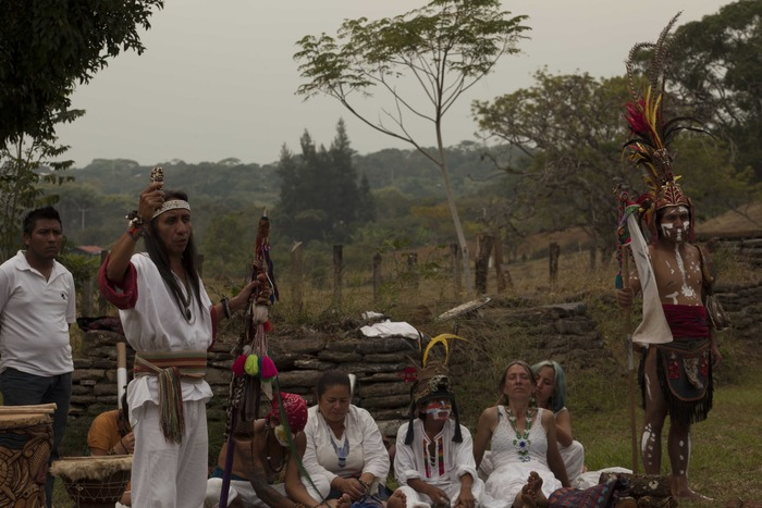 12/12/12 Ceremonia en Toniná, Chiapas, México.