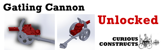 The Gatling Cannon, designed by Kit Burrows.