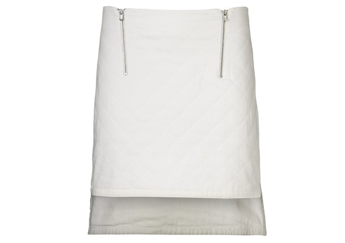 Pledge $124 and select the JEANS SKIRT (WHITE) PLAN 1 to get this piece - Retail price $189