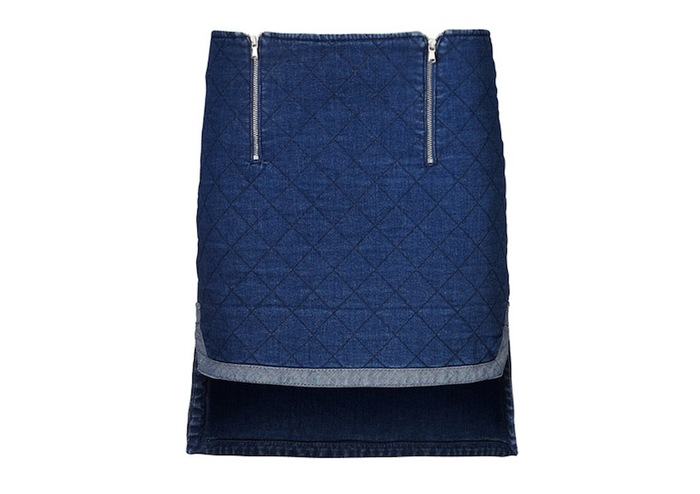 Pledge $124 and select the JEANS SKIRT (BLUE) PLAN 1 to get this piece - $189