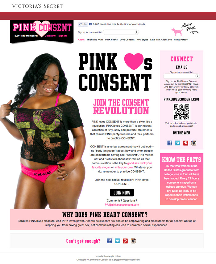 We sparked a consent revolution with millions of people talking about consent on the internet when we pretended that Victoria's Secret was releasing a line of consent-themed, anti-rape panties