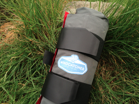 No need to mess with a stuff sack. To pack- just roll up and go!
